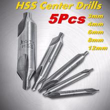 Alta calidad 5 Unids 60 Grados Poco HSS Combinado Taladros Avellanadores Tool Set