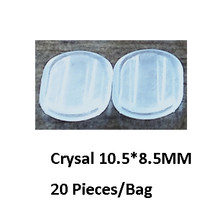 BoYuTe Wholesale White Transparent Soft Silicone Anti-Pain Ear Clip Pad Earrings Accessories DIY Jewelry Findings Components(China)