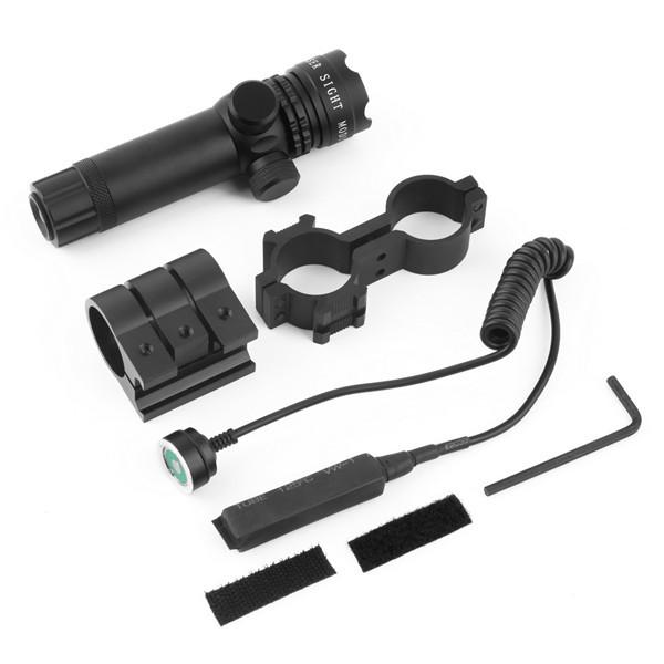 1set Optical Sight Hunting Optics Scope Mount Green Laser Sight 4.2V Black Flashlight<br><br>Aliexpress