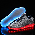 Newest 2017 Simulation LED Shoes For Adults Men s Black Casual Shoes Men Couple High Quality