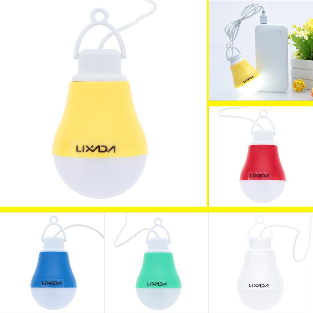 LIXADA DC 5-6V Real Power 4W USB LED Bulb Light Lamp for Home Camping Hiking Emergency Outdoor Illumination(China (Mainland))