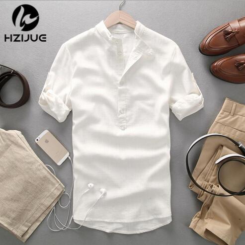 Half Button Down Shirt Mens - Greek T Shirts