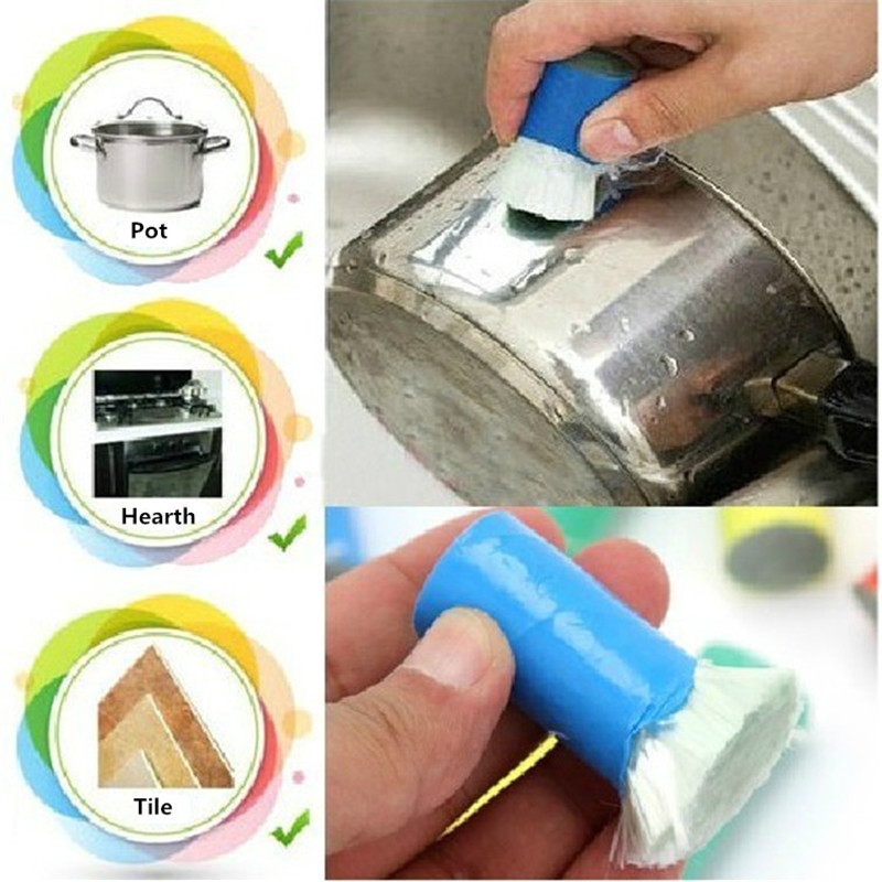 Best Magic Stainless Steel Kitchen Metal Rust Remover Cleaning Detergent Stick Wash Brush Pot Kitchen Cooking Tools(China (Mainland))