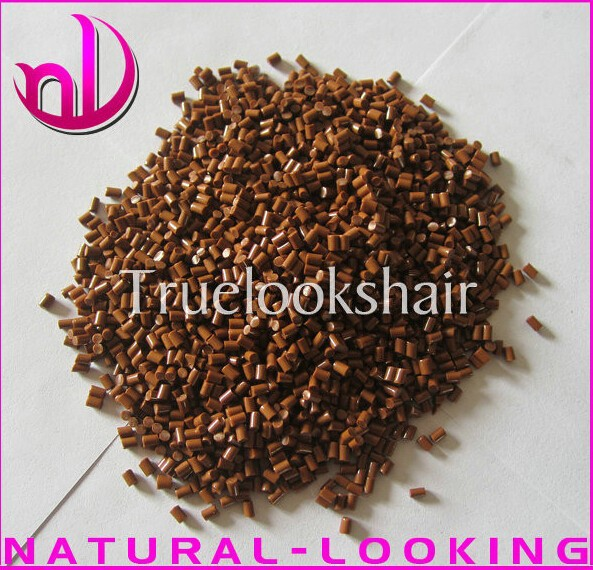 Free shipping,50g/lot Italy keratin glue beads for human hair extensions, Brown color italian keratin glue in grain