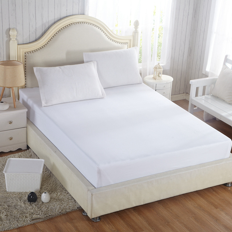 White Mattress Covers 100% Cotton Anti-Bacteria Home mattress protector Four-season Air-Permeable housse matelas Customized(China (Mainland))