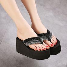 2016 Summer Women Sandals Fashion Ultra High Heels Flip Flops Women s Wedges High heeled Shoes