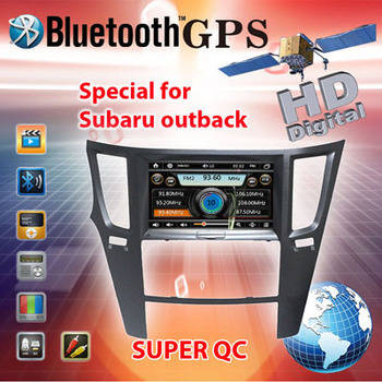 Super quality Speical Car DVD Player radio tuner for Subaru OUTBACK & LEGACY with smart menu 8gb Card with Map