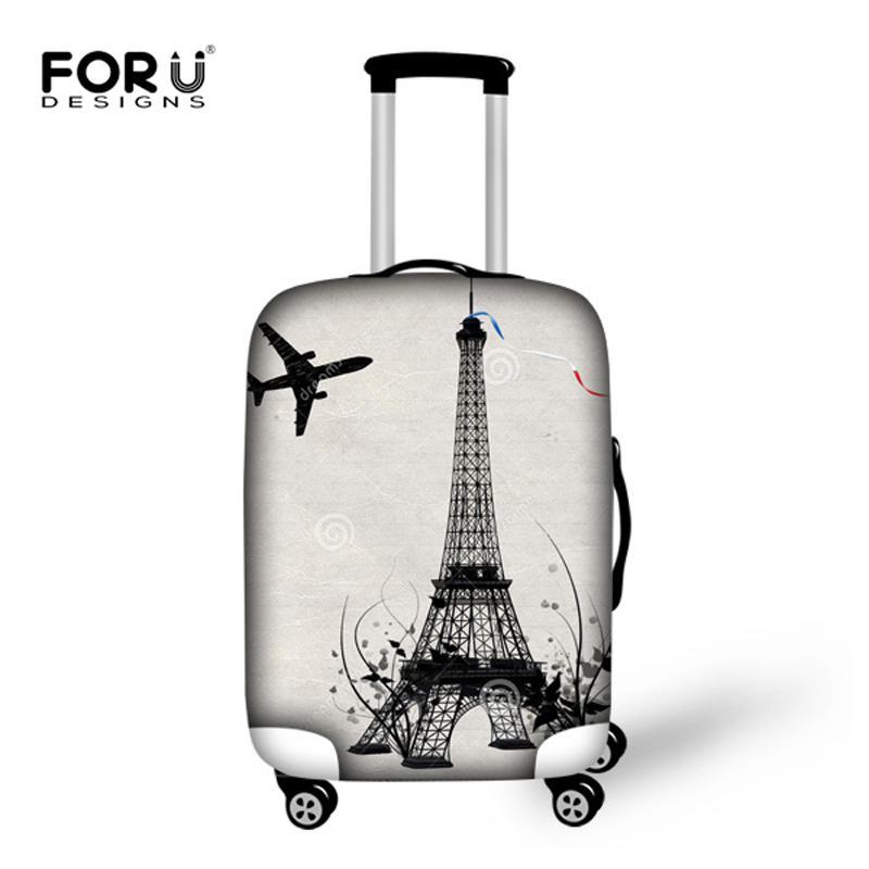 """Vintage Travel Luggage Covers 3D Eiffel Tower Print Suitcase Dust Covers Elastic Waterproof Travel Accessories for 18-30"""" Cases(China (Mainland))"""