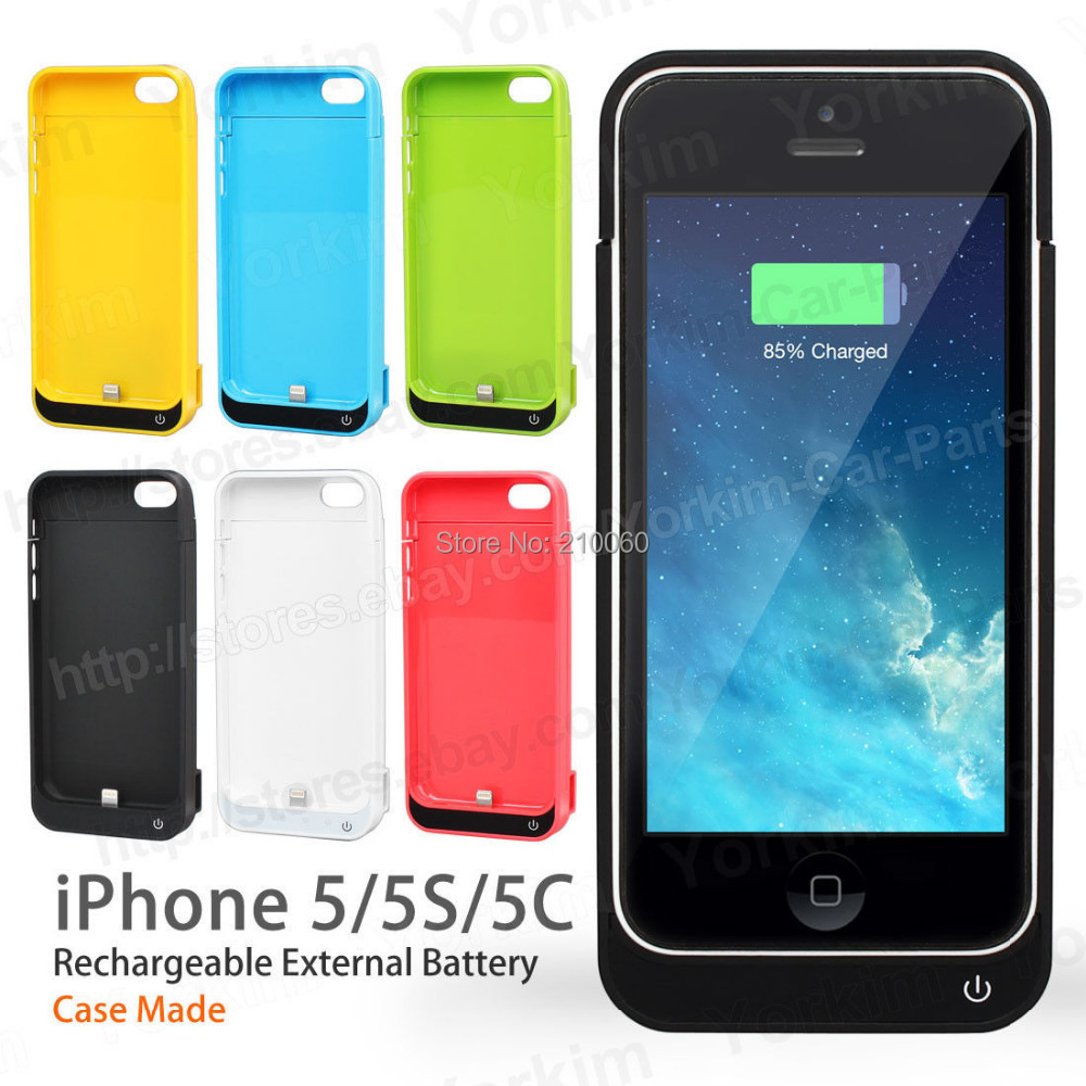 4200mA External Battery Backup Charger Case Pack Power Bank iPhone 5 5s 5c power bank iphone housing charger - UFavors store