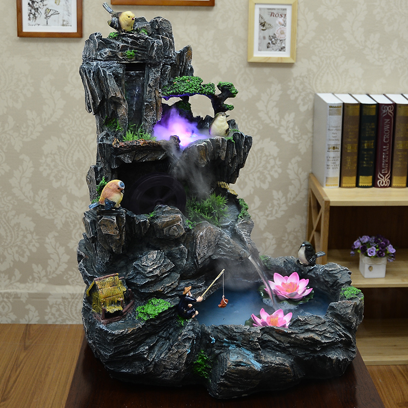 Ica rockery water tank bonsai fountain living room decoration lucky wedding gift - Cute home store