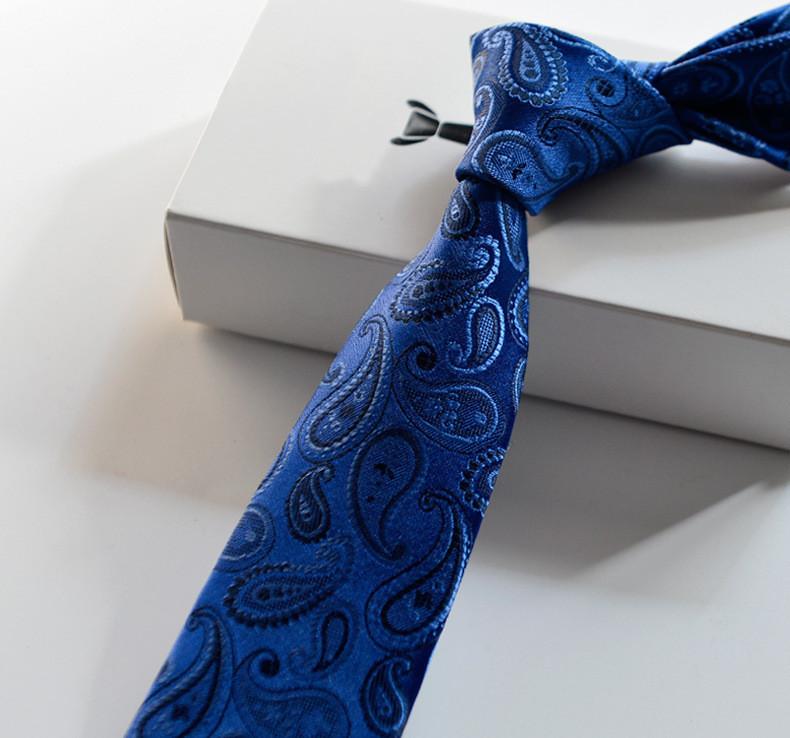 2016 Fashion Polyester Silk Striped & Paisley Neck Tie 7cm Skinny Neckties Wedding Business Suits Ties for Men Gravatas Corbatas