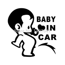Lovely Funny JDM Child Boys Baby In Car On Board Sticker For Window Glass Truck Bumper Camping Cute Vinyl Decal