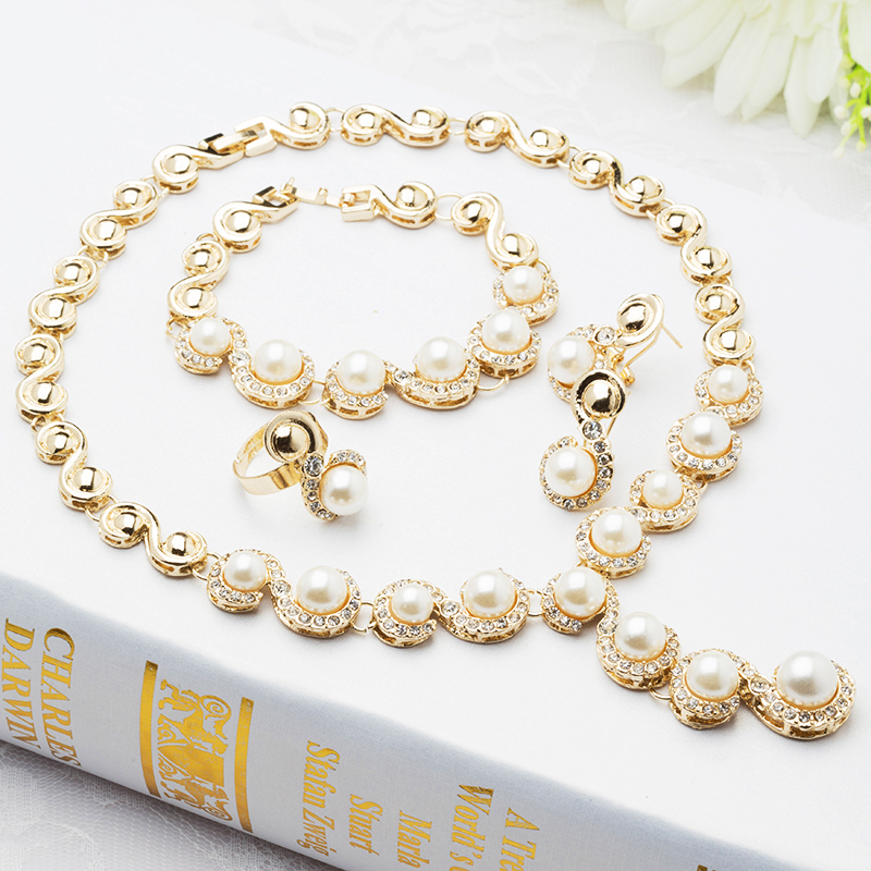 Aliexpress Buy 2015 Fashion Vintage Chunky Choker Pearl Necklace Sets Ivory Wedding