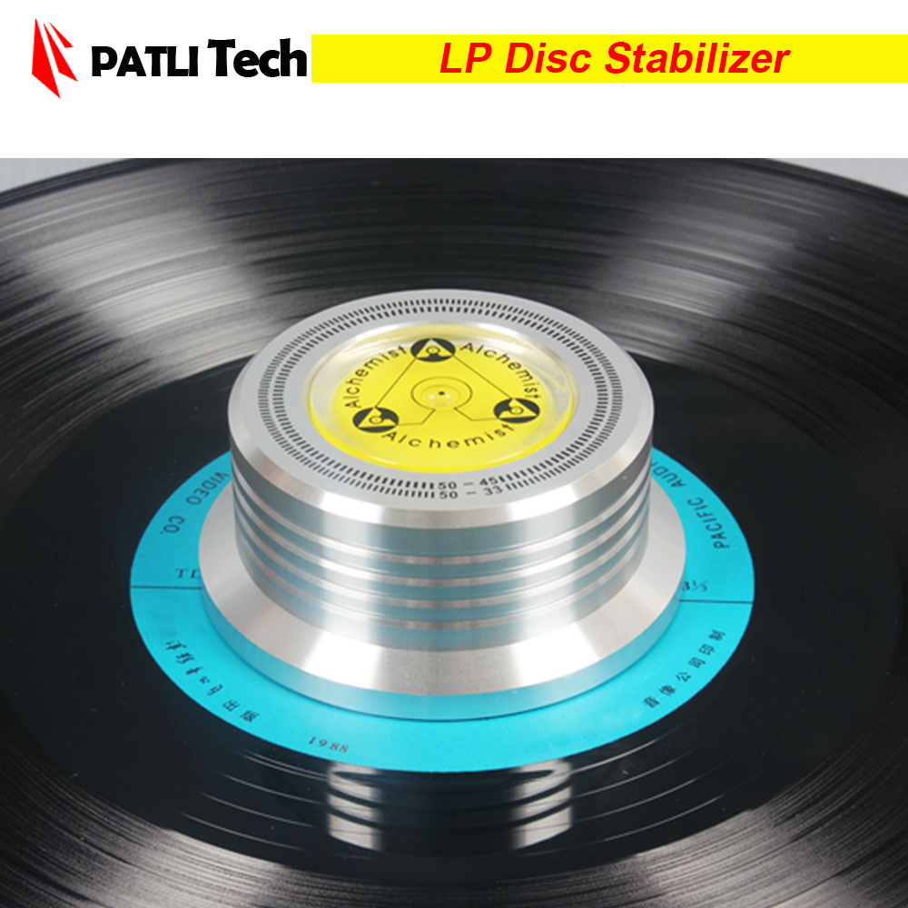 Record Clamp LP Vinyl Disc Stabilizer Turntable For Vibration Balanced Black Height 33mm Top Diameter 65mm, Turntable Accessory