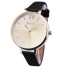 Newly Design 1PC Women Girl Slim Band PU Leather Quartz Wrist Watch Dec16