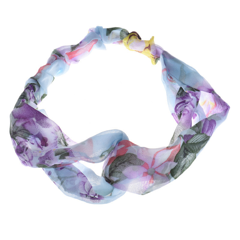 Best Deal New 1PC Fashion Women Soft Elegant Flowers Printing Cross Headband Hair Band Hair Cap Accessories for Lady PerfectGift(China (Mainland))
