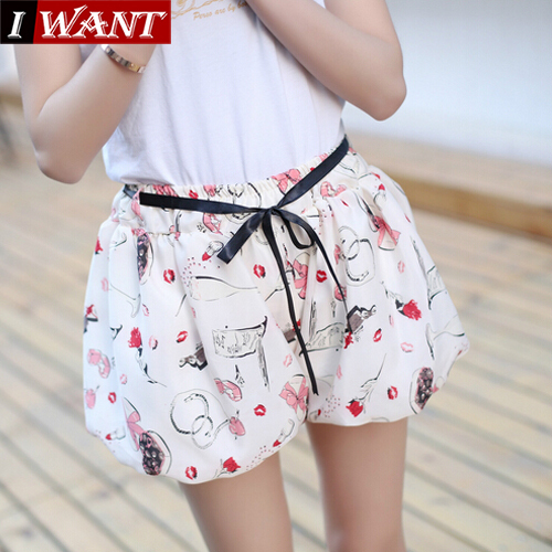 New 2015 Women Summer Skirt Casual Cute Above Knee Mini Short Chiffon Skirts Woman Interlining Navy Blue Black Yellow Pink Red(China (Mainland))