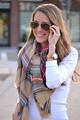 New Fashion Slik Women Scarf Unisex Blanket Oversized Tartan Wrap Plaid Warm Ski Pashmina Shawl Hijab