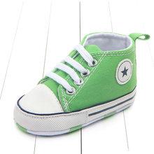 Новые парусиновые классические спортивные кроссовки для новорожденных мальчиков и девочек; обувь для первых шагов; обувь для малышей с мяг...(China)