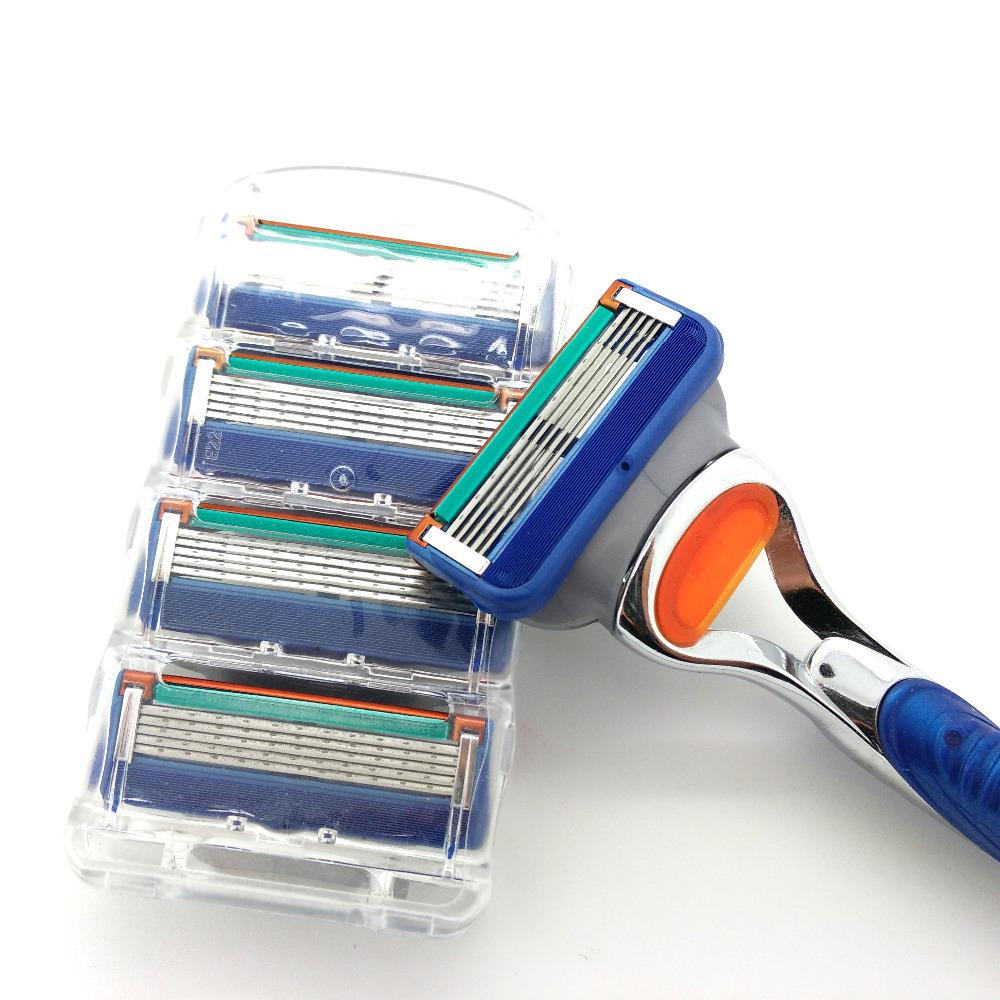 Hoge kwaliteit ironsoul 4 stuks/partij heren mannen gezicht scheren scheermesjes voor mannen scheerapparaat scheermes scheermessen mes slijper geen pakket(China (Mainland))