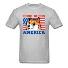 Doge béni drapeau de l'amérique imprimé T-Shirt USA drapeau carte chien hommes t-shirts groupe rue T-Shirt fête du travail nouveau T-Shirt col rond(China)