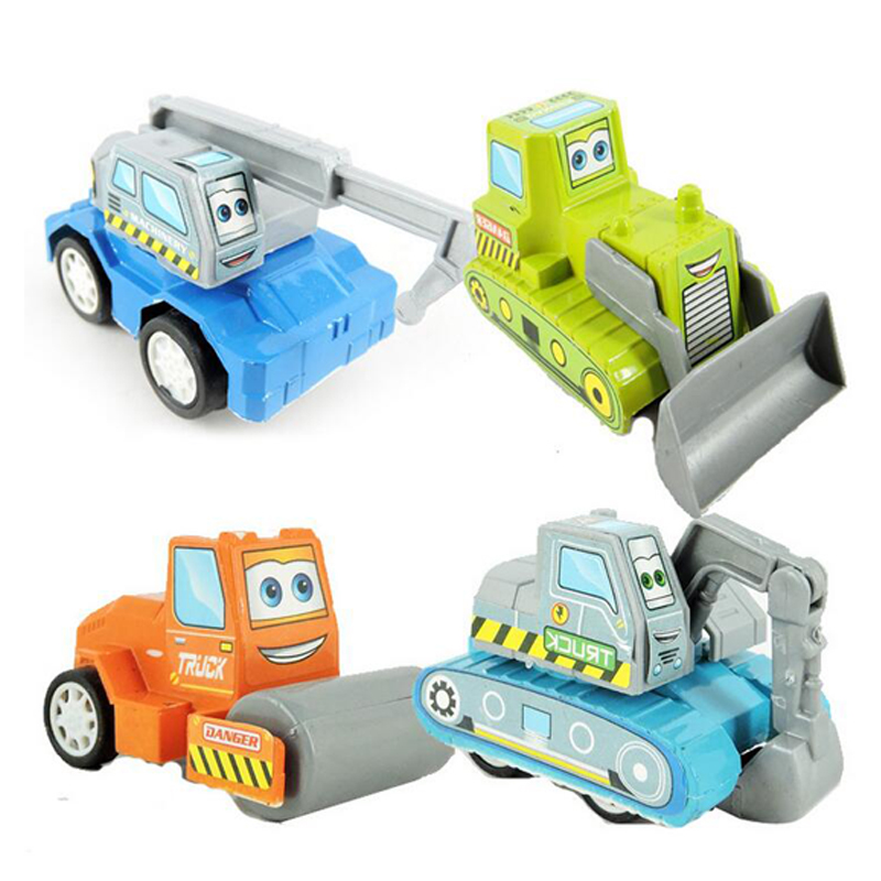 Free shipping 6 pcs/set multicolor plastic mini pull back Vehicle car model baby children kids toys gifts for girls and boys(Hong Kong)