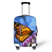Fashion Waterproof Spandex Butterfly Printing Travel Luggage Cover Elastic 18-30 inch Anti-dust Suitcase Cover with Zipper(China (Mainland))
