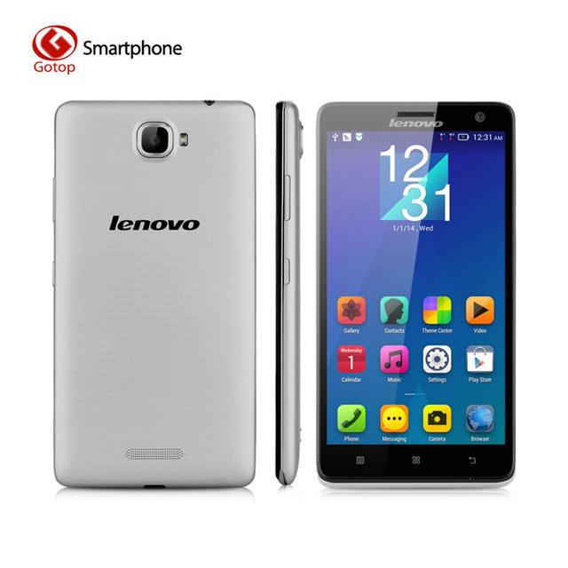 Оригинальный Lenovo S856 5.5 дюйма Android 4.4 Snapdragon 400 MSM8926 четырехъядерный смартфон Lenovo телефон ОЗУ 1 ГБ + ПЗУ 8 ГБ 8.0МП 4G LTE 1.2 ГГц