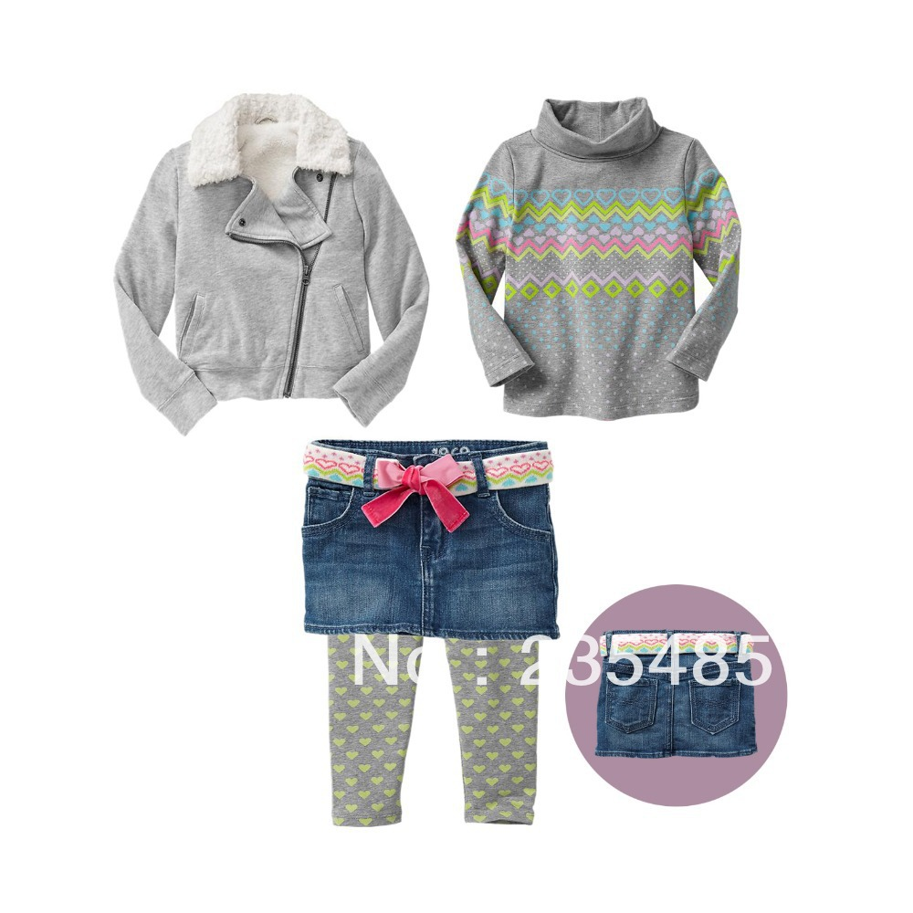 hot selling baby girl fall&winter clothes sets 5pcs set