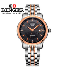 Binger New Design Wristwatch Brand Colouring Hollow Out Automatic Mechanical Watch Men Skeleton Swimming Watches 50M Waterproof