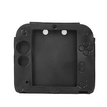 New Black Silicone Protective Case Rubber bumper Gel Skin Sleeve Cover for Nintendo 2DS Soft Shell