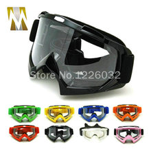 Adult font b Motocross b font Goggles Motorcycle googles ATV Eyewear Colored Lens Black Frame ski