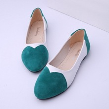 Women Flat Shoes 2015 Pointed Toe Shoes For Women Mixed Colors Casual Women Flats Slip On Shallow Mouth Ladies Shoes(China (Mainland))