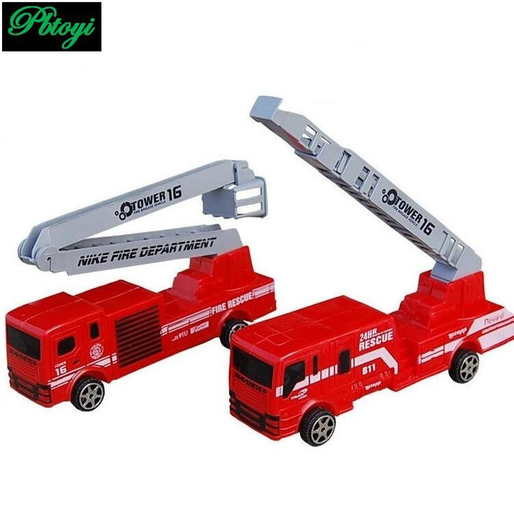 Fire Truck Ladder Model Can Be Moved Truck Red Color Gift For Kids Free Shipping PI0649(China (Mainland))