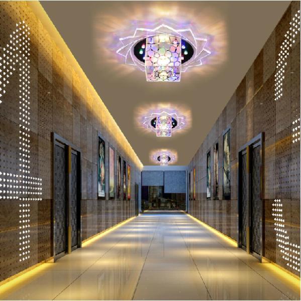 5w modern brief ceiling crystal chandelier home lighting