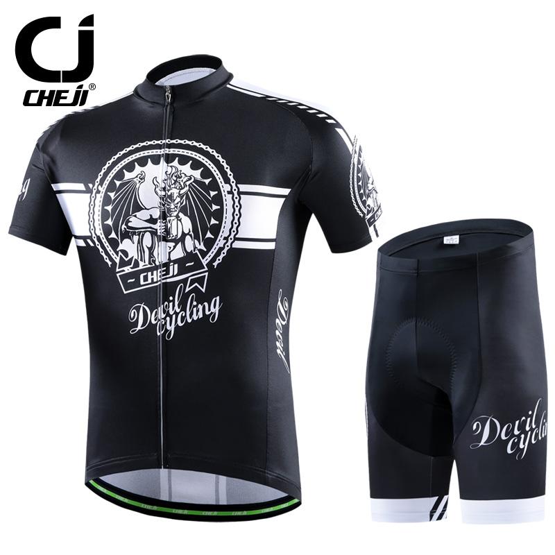 2016 CHEJI Men bike Jerseys Shorts sets  Retro flower Pro MTB team cycling clothing suits ropa bicycle Top bike wear