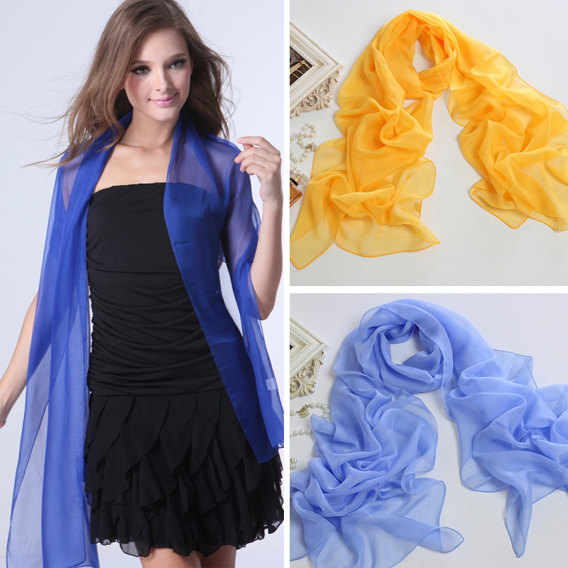 Long design silk scarf all-match multifunctional scarf sun scarf anti-uv scarf multicolor