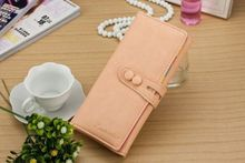 Clutch Checkbook Change Bag Women's Purse Handbag Ladies Wallet Cute Candy Color