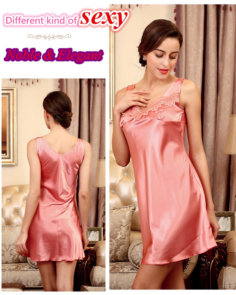 Rozegaga hot sexy nightgown women night dress silk bat pajamas comfortable silk babydoll nightwear elegant lingerie(China (Mainland))