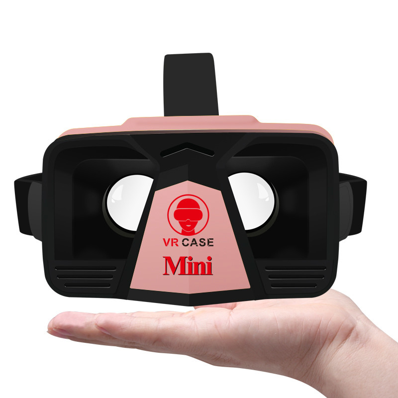 Virtual Reality VR CASE MINI 3D Glasses Viewer Headband Glasses Optical Lentes Oculos Rift Private Cinema PK Baofeng Mojing XD(China (Mainland))
