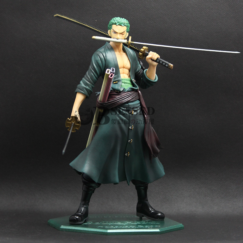 Anime Animation One Piece Roronoa Zoro 23cm PVC Action Figure Collection Model Toy Cool Dolls