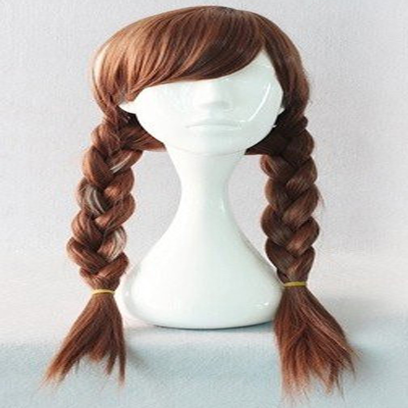 HAIRJOY Popular Long Braided 70CM Synthetic Wig Heat Resistant Brown Ponytail Weave Head Hair Wigs Adult Princess Anna Cosplay - Tony Mall-Quality. Comfort. Style. store