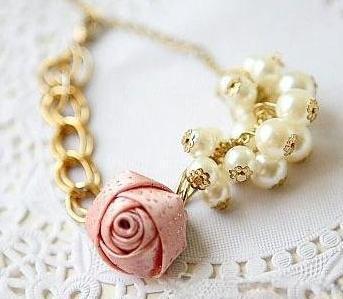 # B103A  Braclets Women/girl Bangle South Korean Gold plated pearl Flower shiny Bracelet Bange C wholesale charm charms