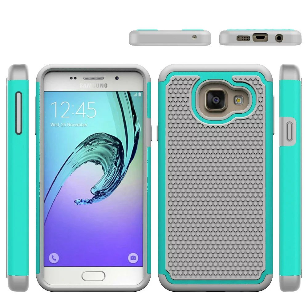 2 in 1 Protective Hybrid Combo Football Heavy Duty Hard Skin Case For Samsung Galaxy A3 2016 A310 Robert Phone Cover(Hong Kong)