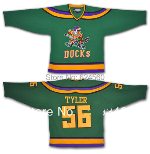 Russ Tyler #56 Mighty Ducks Anaheim White/Green Ice Hockey Jersey Cheap - Can Custom Any Name And Number Swen On (XXS-6XL)<br><br>Aliexpress