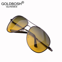 night driving glasses day and night Polarized sunglasses men metal frame vintage night vision goggles brand men's sun glasses