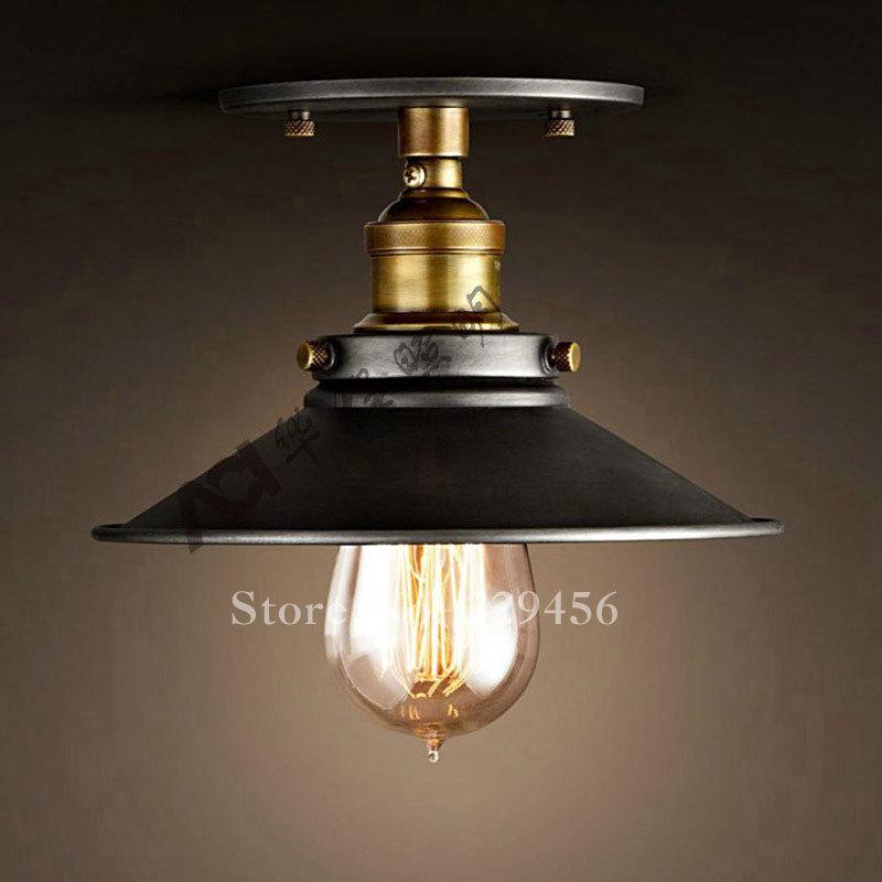 Vintage Ceiling Lights American Industrial LOFT Lamparas Luminaria Edison Light Bulb E27 110-240V(China (Mainland))
