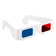 Free shipping Paper 3D Glasses 3pcs / lot red cyan (blue) 3D glasses paper sizes 3 points , hot selling PG544(China (Mainland))