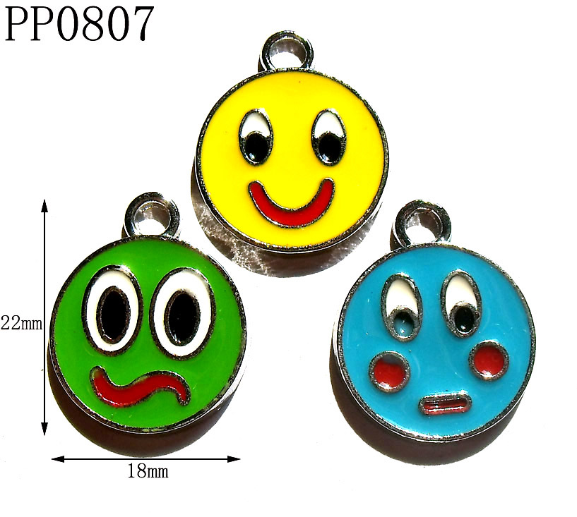 22mm Fashion Enamel Chrome Plated Zinc Alloy Facebook Charms,DIY Bracelet Charms,Free Shipping 50pcs/lot(China (Mainland))