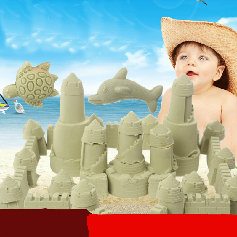 50G/bag 2015 Hot sale dynamic educational Amazing No-mess Indoor Magic Play Sand Children toys Mars space sand(China (Mainland))